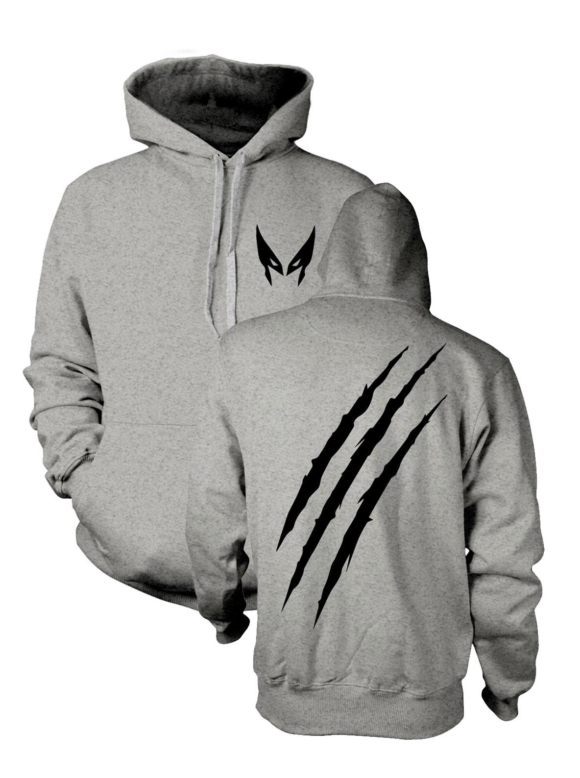X-Men Hooded Sweater Wolverine Slash Size L