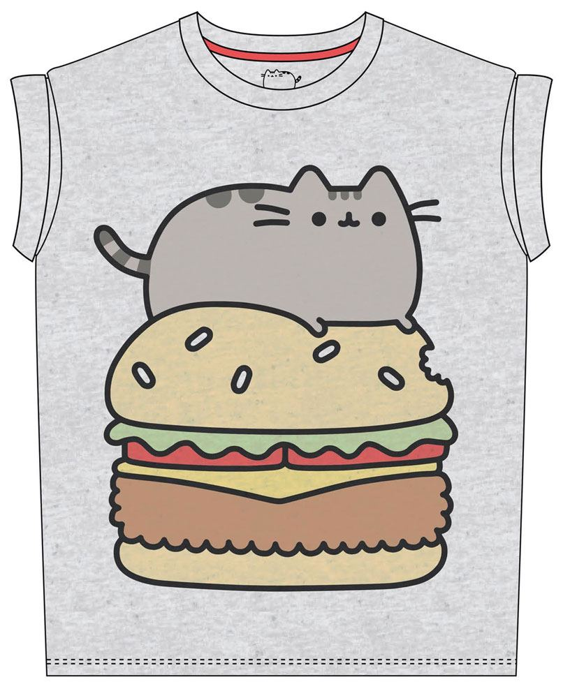 Pusheen Ladies T-Shirt Pusheen Burger Size S