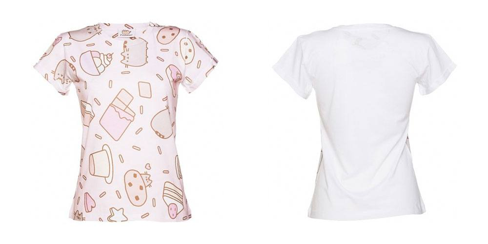 Pusheen Ladies T-Shirt Sweet Treats Size L