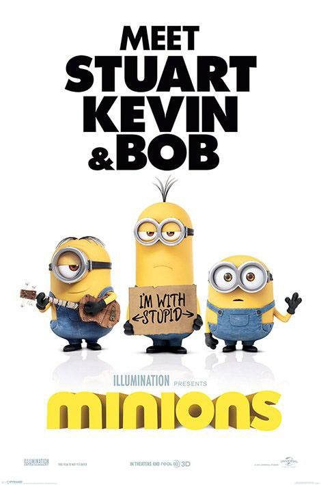 Minions Poster Pack I'm With Stupid 61 x 91 cm (5)