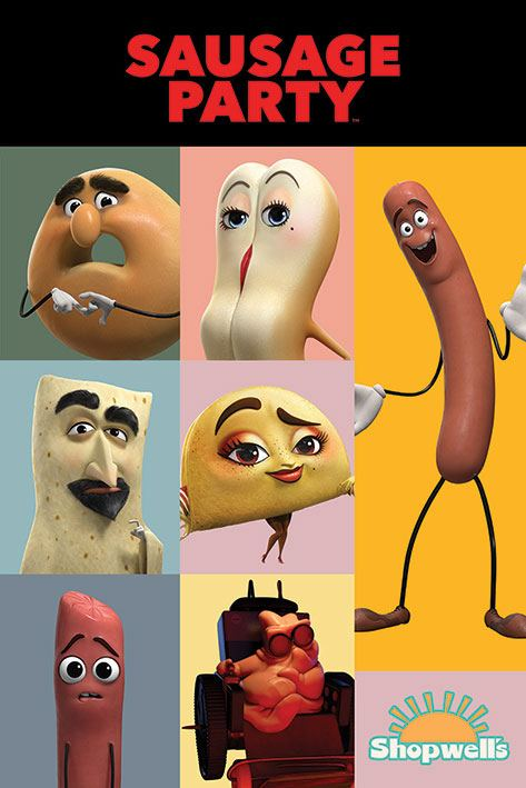 Sausage Party Poster Pack Characters 61 x 91 cm (5)
