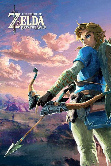 Legend of Zelda Breath of the Wild Poster Pack Hyrule Scene Landscape 61 x 91 cm (5)