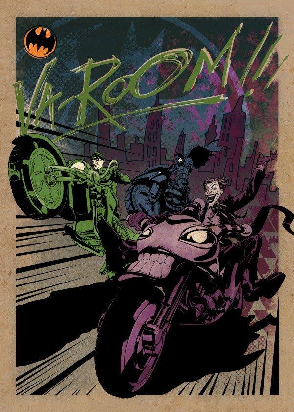 DC Comics Metal Poster Gotham City Motor Club Gotham City MC 68 x 48 cm