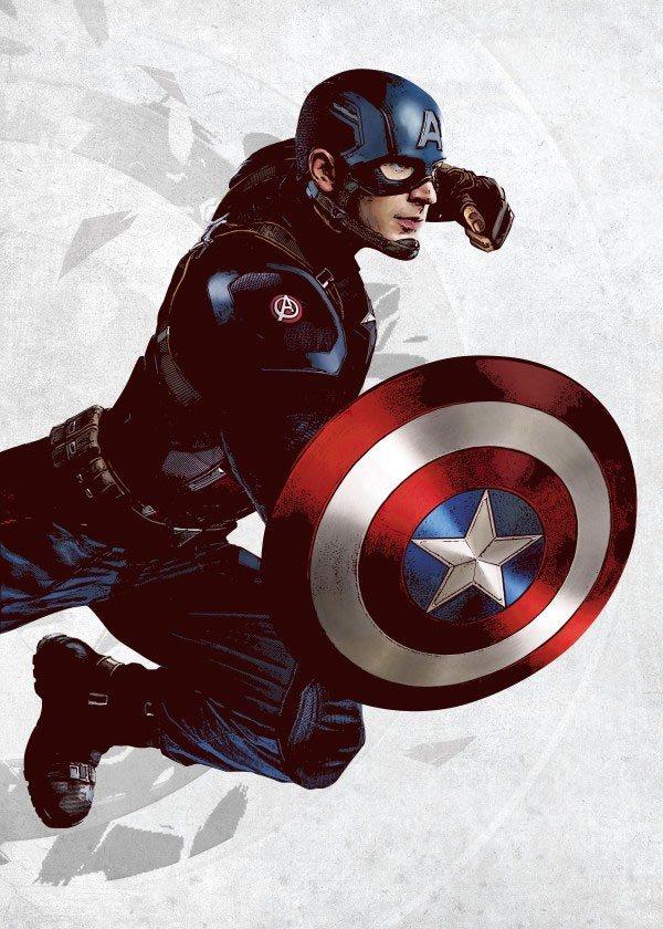 Marvel Comics Metal Poster Captain America 32 x 45 cm