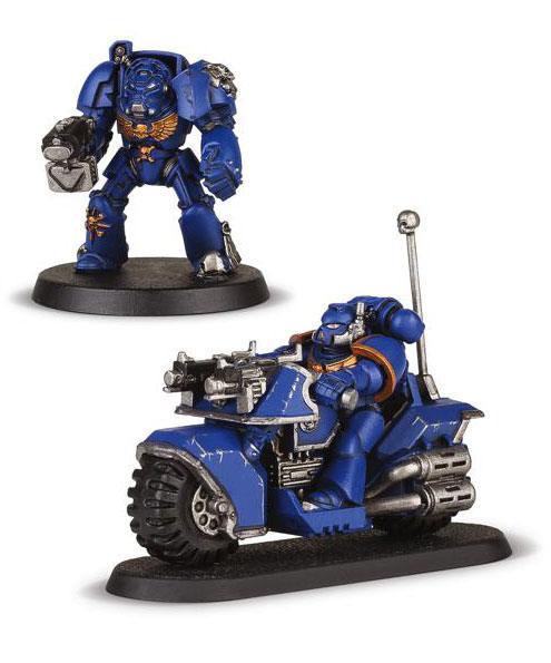 Warhammer 40K Build+Paint Model Set Series 1 Space Marine Bike Attack