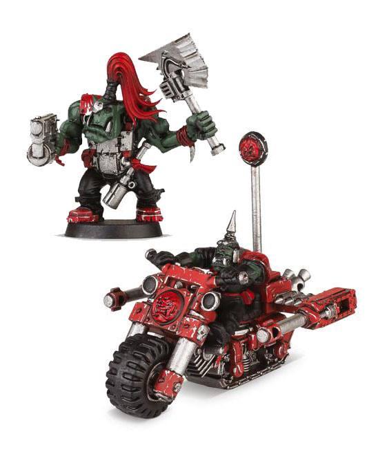 Warhammer 40K Build+Paint Model Set Series 1 Space Ork Blastabike