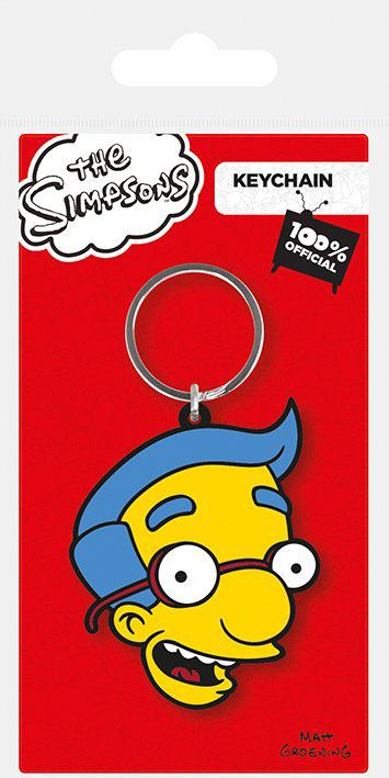 Simpsons Rubber Keychain Milhouse 6 cm
