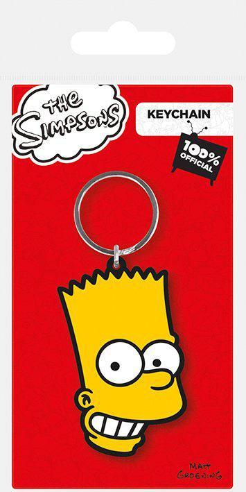 Simpsons Rubber Keychain Bart Simpson 6 cm