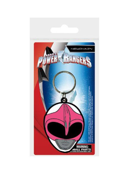 Power Rangers Rubber Keychain Pink Ranger Helmet 6 cm
