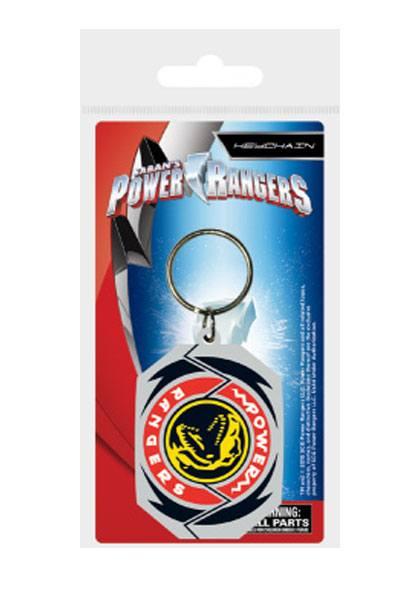 Power Rangers Rubber Keychain T-Rex Morphin Badge 6 cm