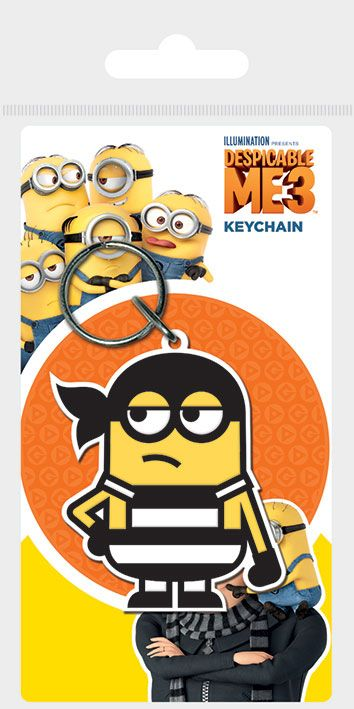 Despicable Me 3 Rubber Keychain Minion Bandana 6 cm