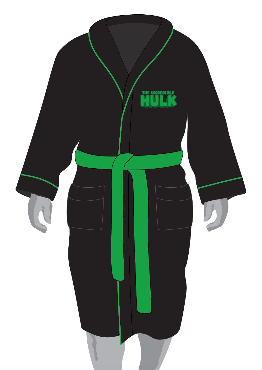 Marvel Comics Fleece Bathrobe Hulk Glow in the Dark
