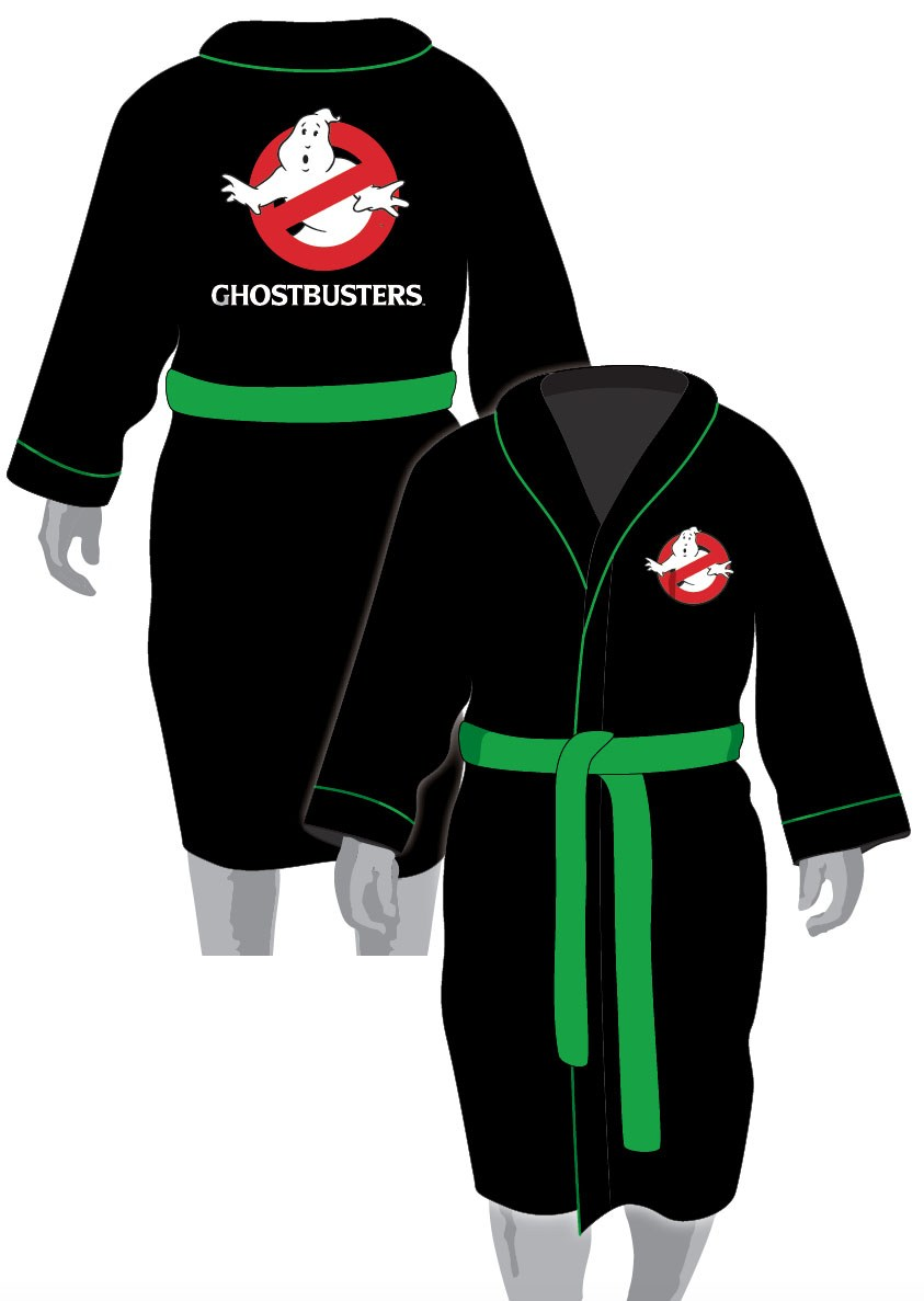 Ghostbusters Fleece Bathrobe No Ghost