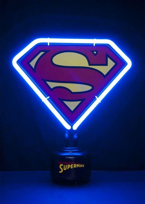 DC Comics Neon Light Superman Shield 23 x 24 cm