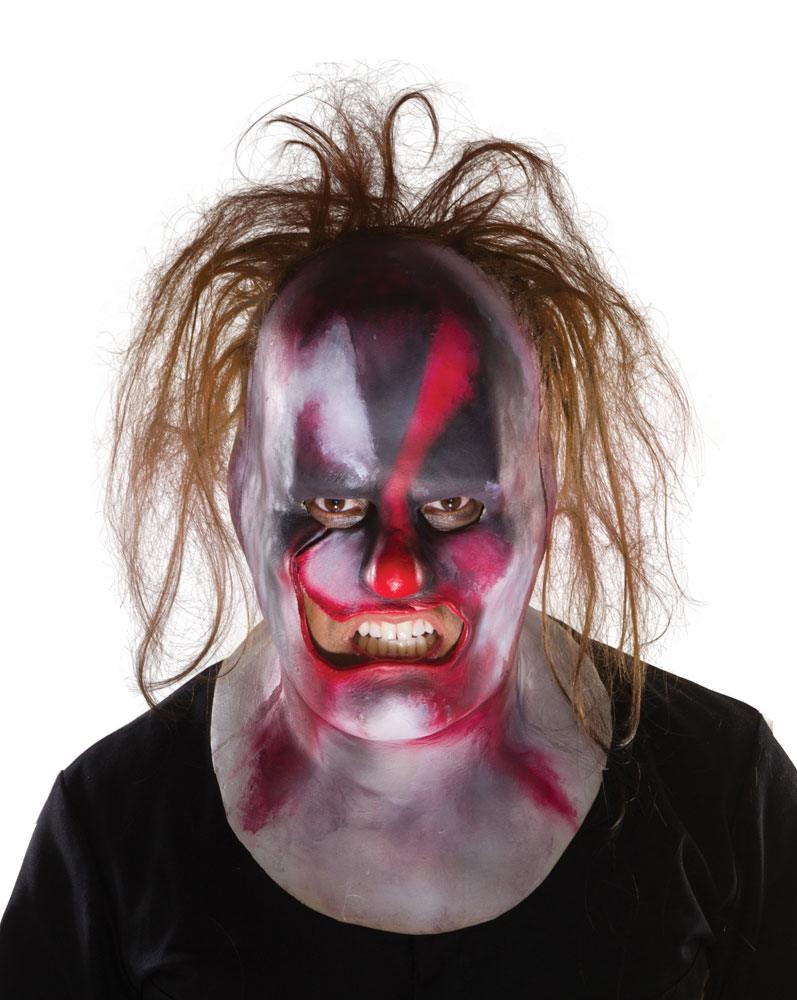 Slipknot Vinyl Mask Clown with Hair