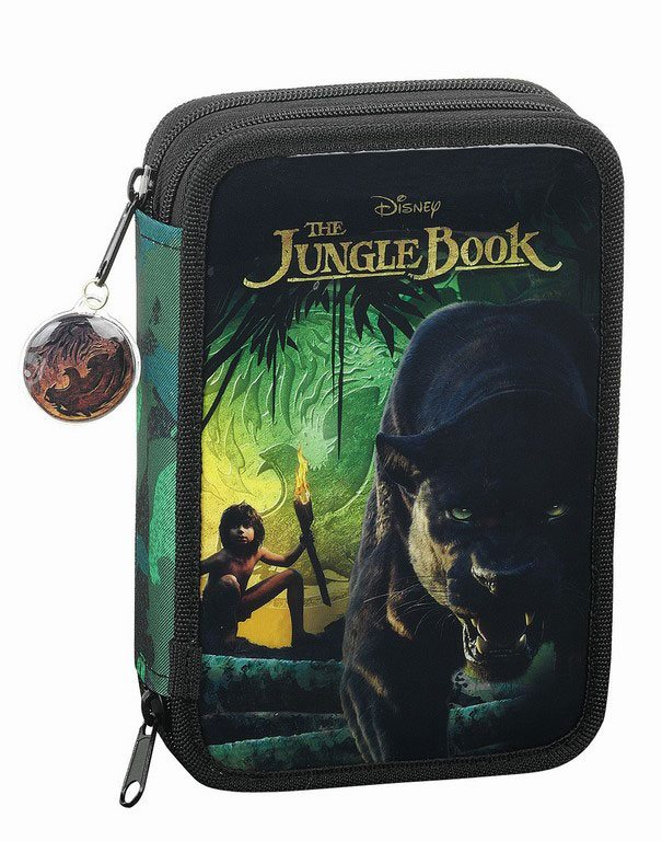 The Jungle Book 2016 34-Piece Pencil Case with content Mowgli & Bagheera 21 cm