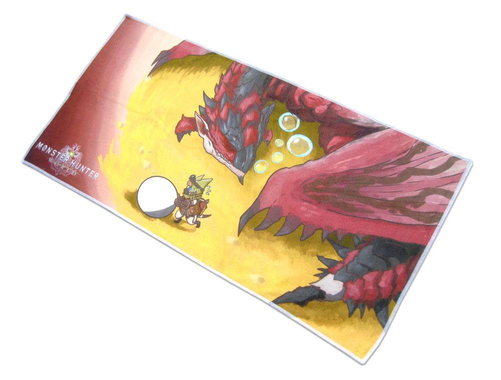 Monster Hunter World Towel Rathalos & Palico Egg Quest 70 x 35 cm