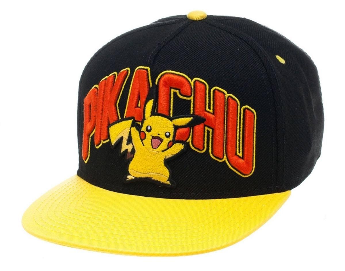 Pokemon Snap Back Baseball Cap Pikachu