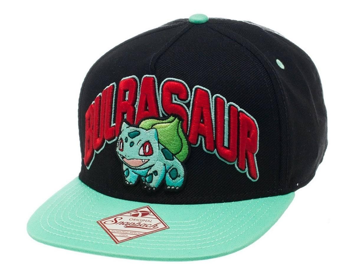 Pokemon Snap Back Baseball Cap Bulbasaur