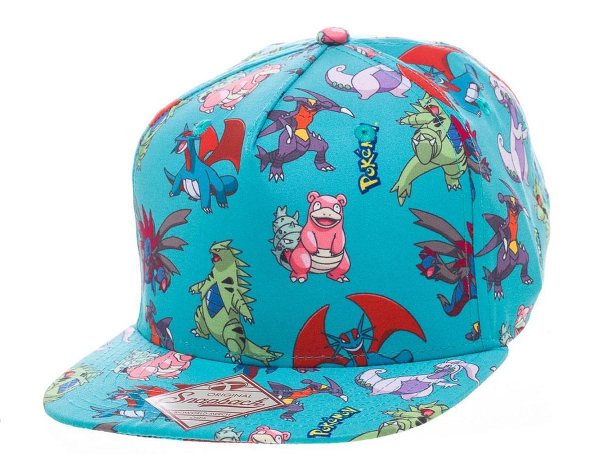 Pokemon Snap Back Baseball Cap Characters All Over