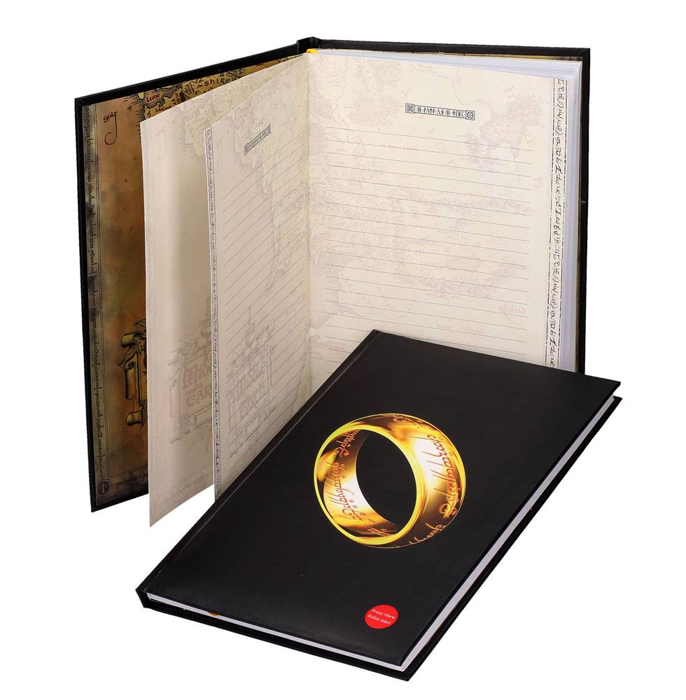 Lord of the Rings XL Notebook with Light The One Ring