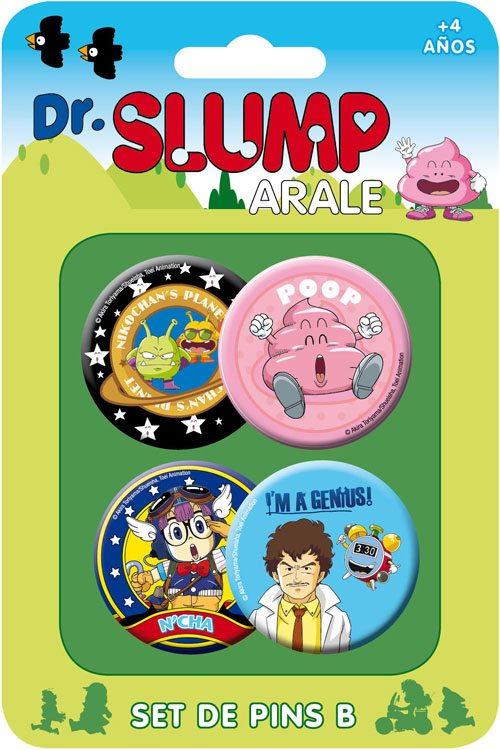 Dr. Slump Pin Badges 4-Pack Set B