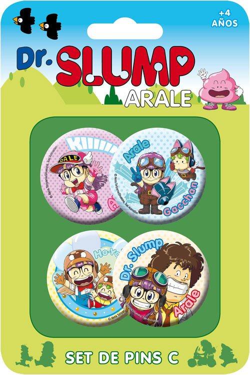 Dr. Slump Pin Badges 4-Pack Set C