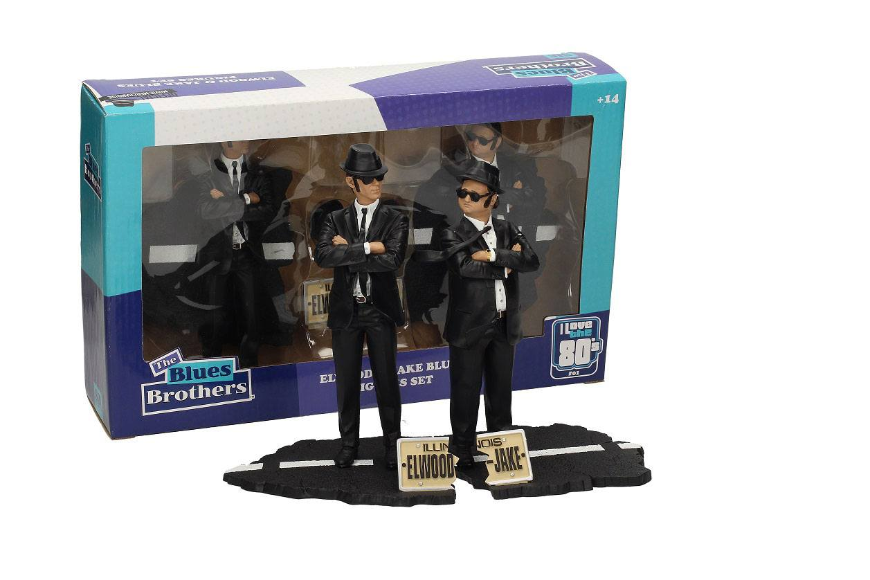 Blues Brothers Movie Icons Statue 2-Pack Jake & Elwood 18 cm