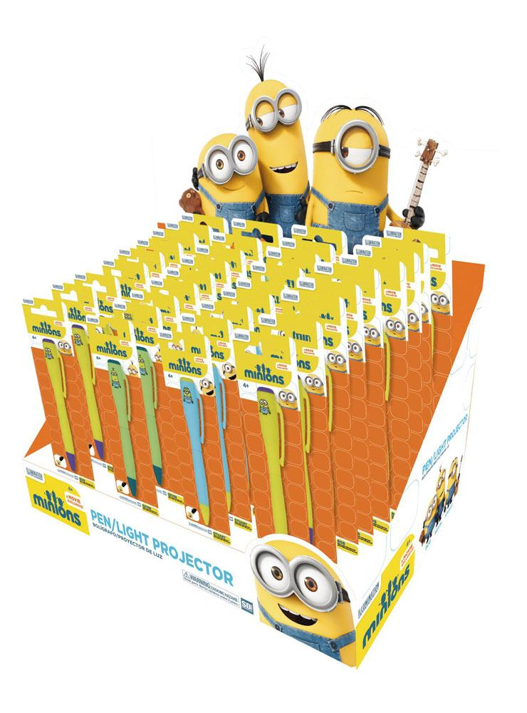 Minions Pens with Light Projectors Display (36)