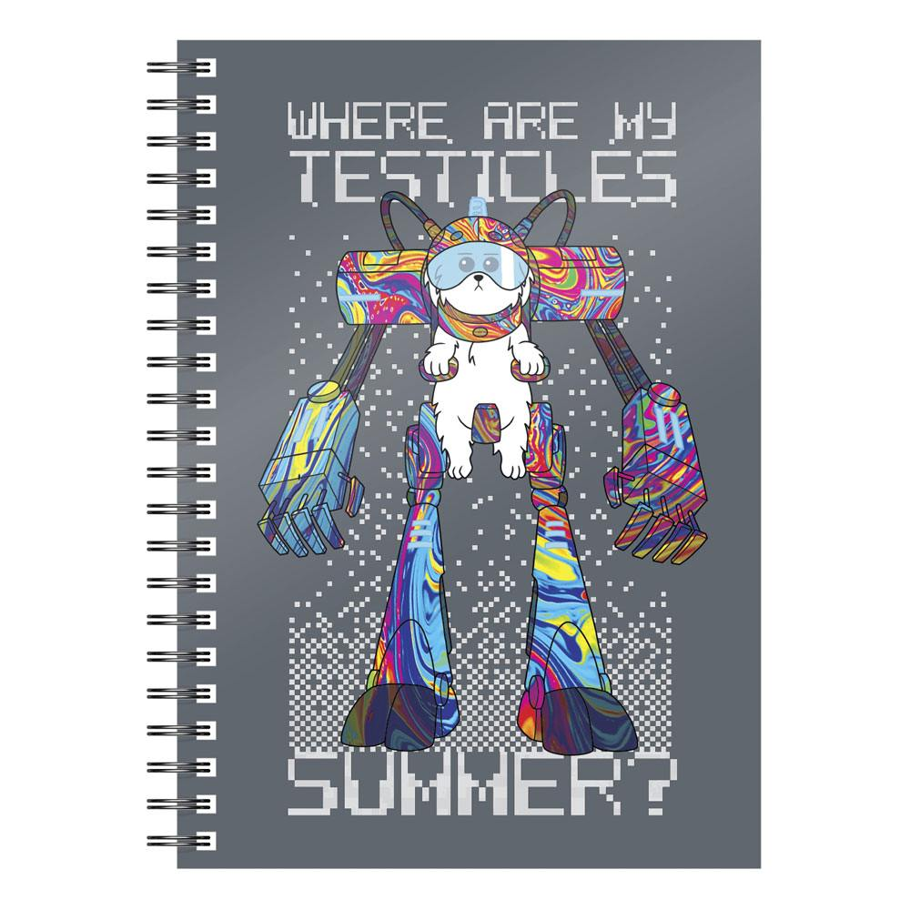 SD Toys Rick & Morty Notebook Where Are My Testicles