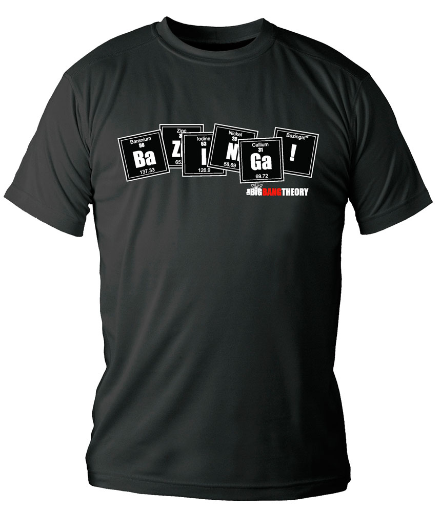 The Big Bang Theory T-Shirt Bazinga Periodic Table Size L