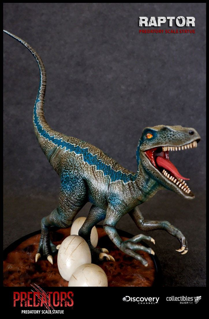 Raptor Predators Predatory Scale Statue by Silver Fox Collectibles