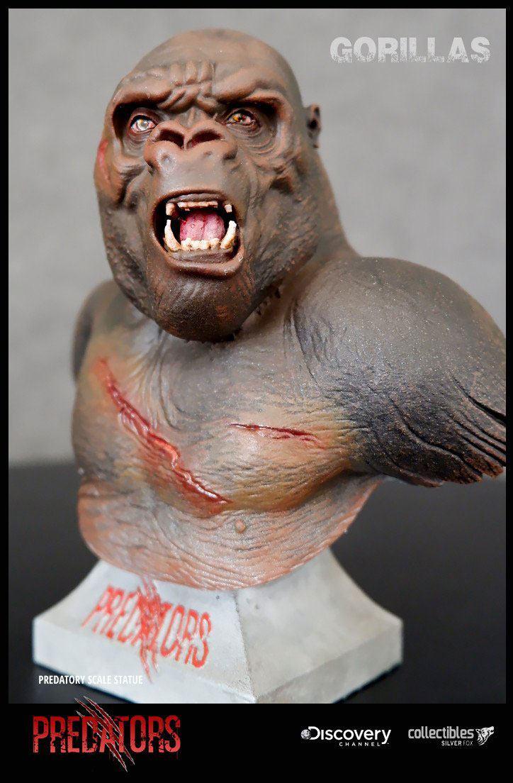 Gorilla Predators Predatory Scale Bust by Silver Fox Collectibles