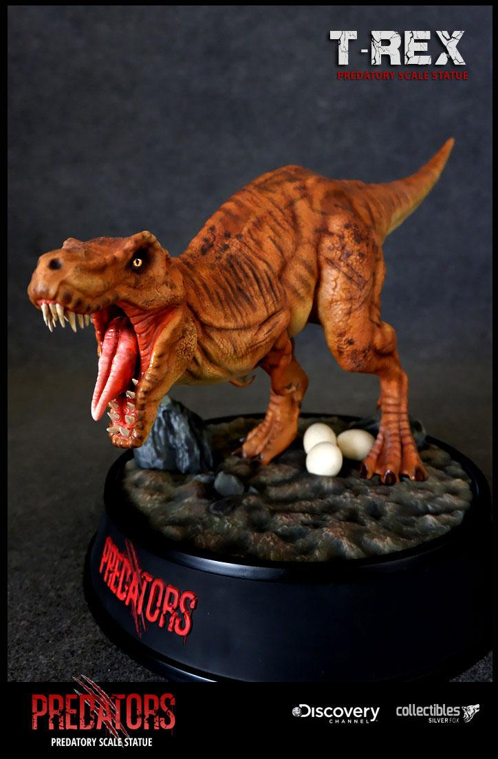T-Rex Predators Predatory Scale Statue by Silver Fox Collectibles