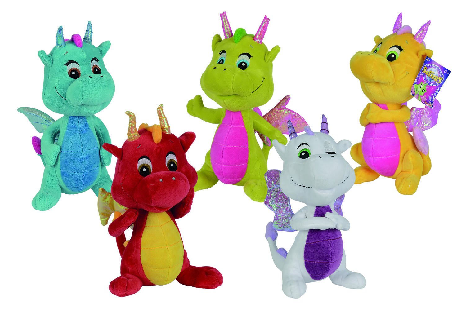 Safiras Plush Figures Dragons 25 cm Assortment (5)