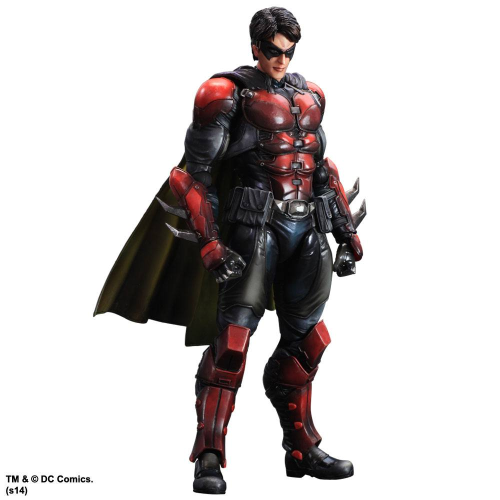 Batman Arkham Origins Play Arts Kai Action Figure Robin 27 cm --- DAMAGED PACKAGING