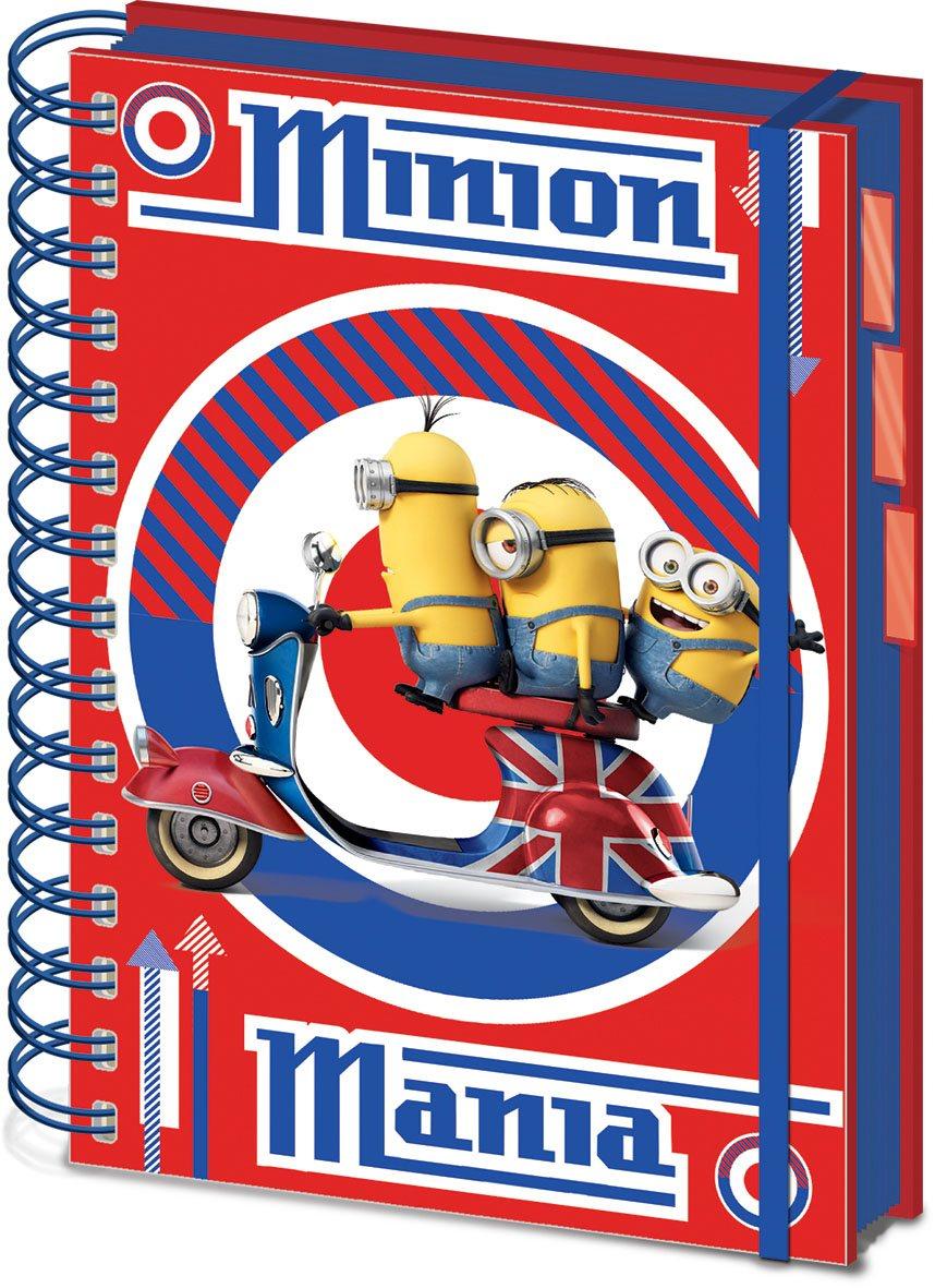 Minions Notebook A5 British Mod Red