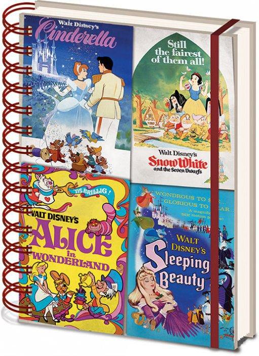 Disney Vintage Princess 3D Lenticular Notebook A5