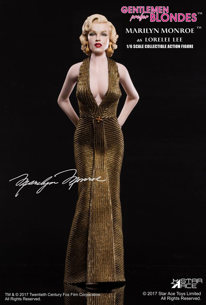 Gentlemen Prefer Blondes My Favourite Legend Action Figure 1/6 Marilyn Monroe Gold Dress Ver. 29 cm