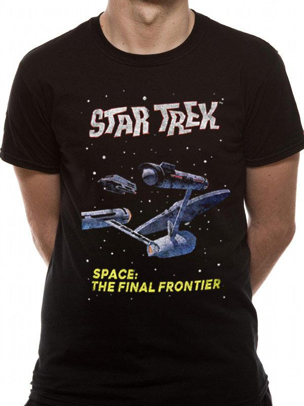 Star Trek T-Shirt Final Frontier Size S