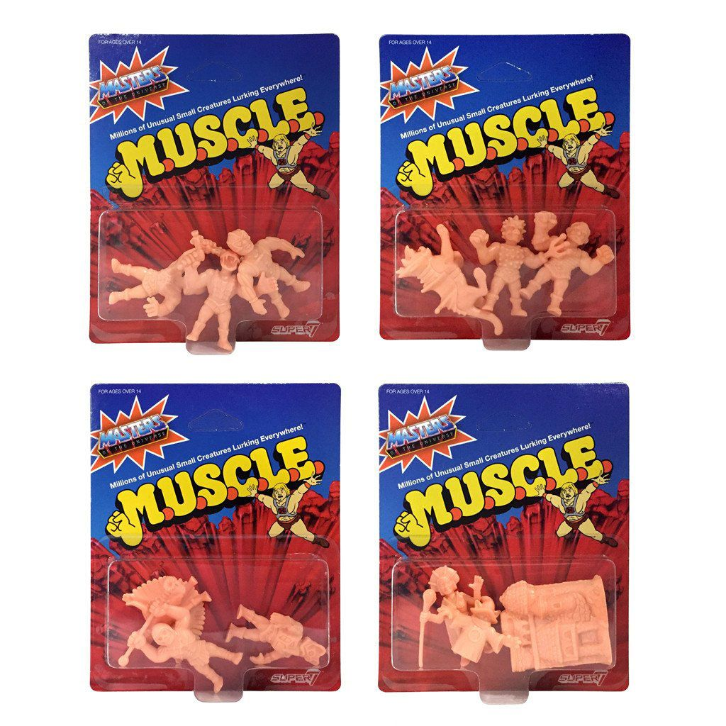 Masters of the Universe MUSCLE Figures 3-Pack 4 cm Wave 2 Assortment (4)