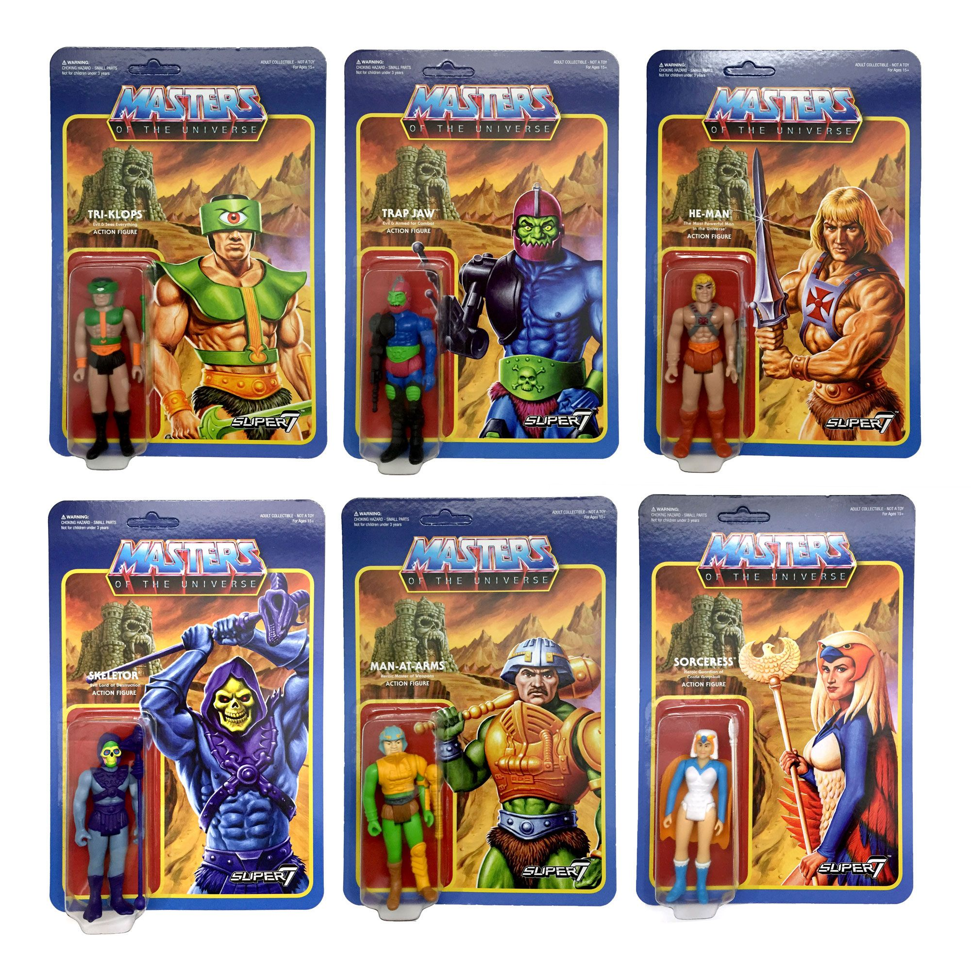 Masters of the Universe ReAction Action Figures 10 cm Wave 2 Assortment (6)