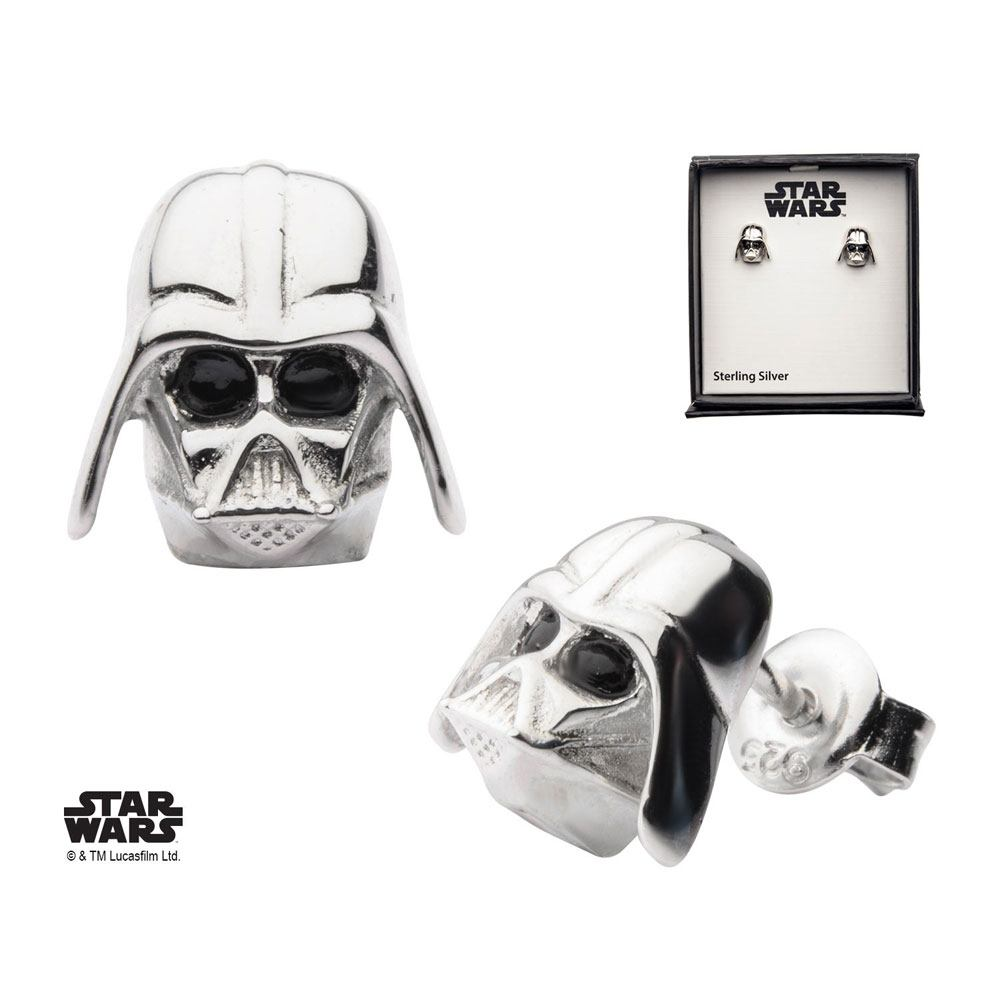 Star Wars Earrings Darth Vader Sterling Silver)