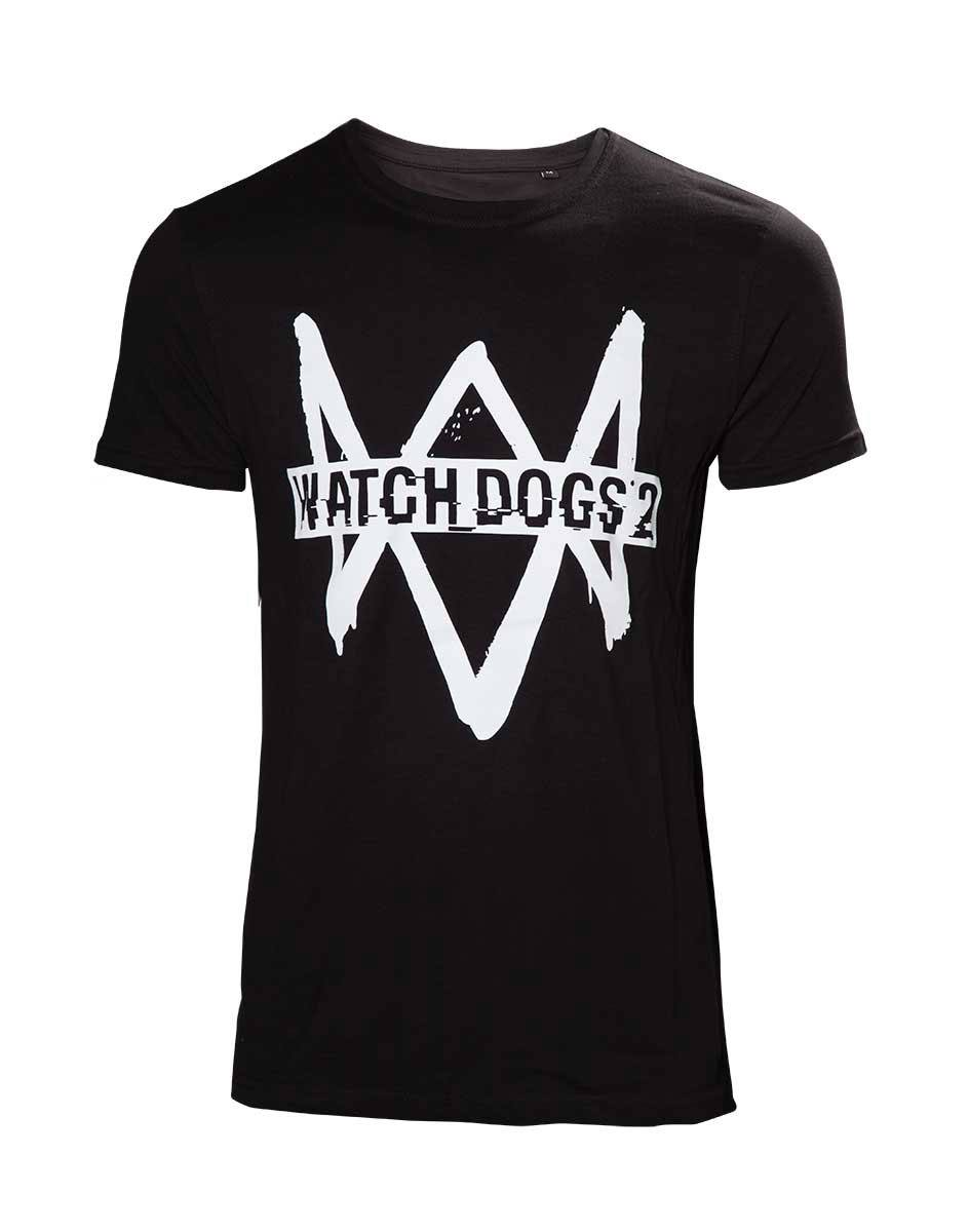 Watch Dogs 2 T-Shirt Logo Text Size L
