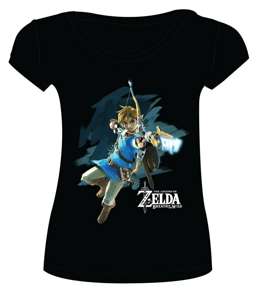 The Legend of Zelda Breath of the Wild Ladies T-Shirt Link with Arrow Size S