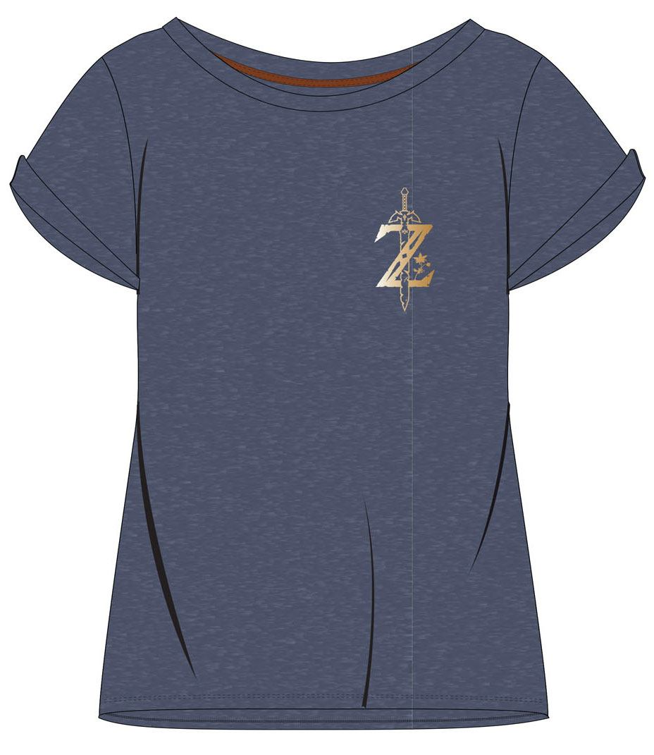 The Legend of Zelda Breath of the Wild Ladies T-Shirt Logo Size M