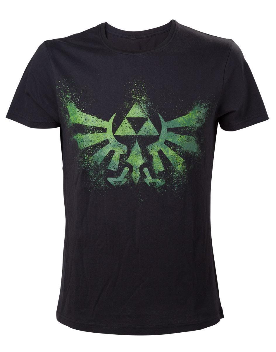 The Legend of Zelda T-Shirt Green Zelda Logo Size XL