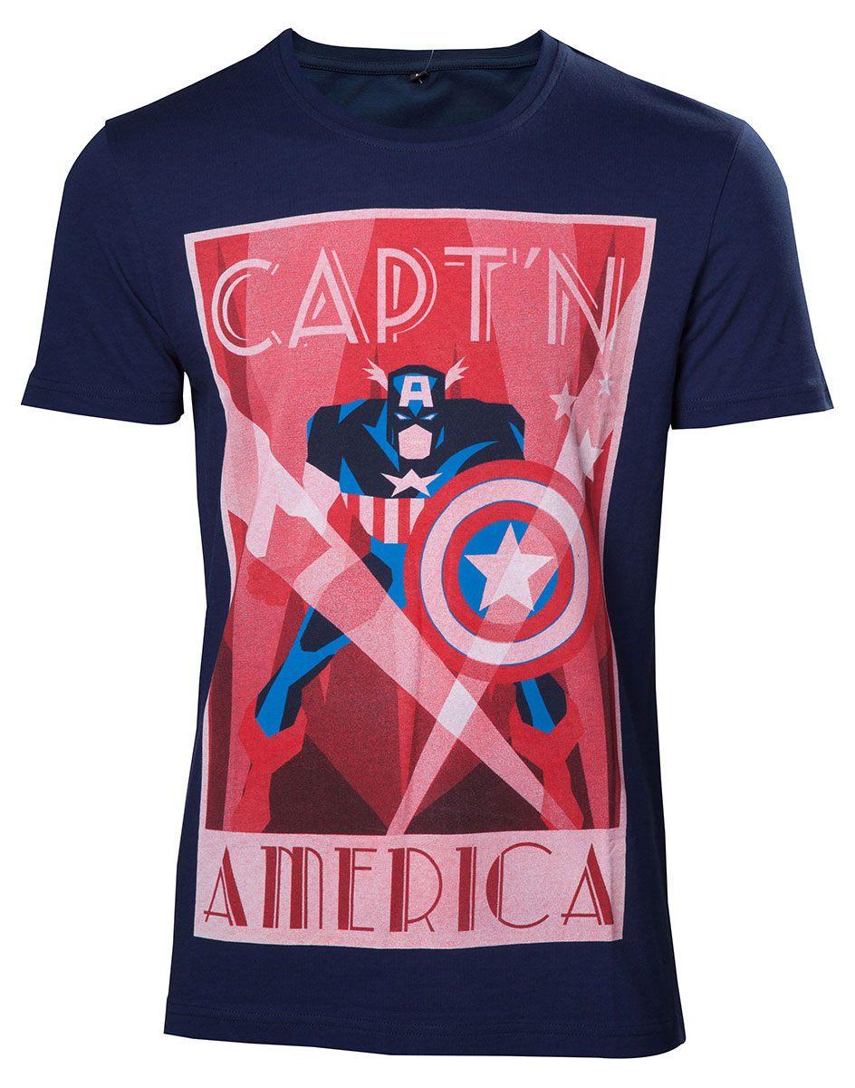 Captain America T-Shirt Shield Up Size M