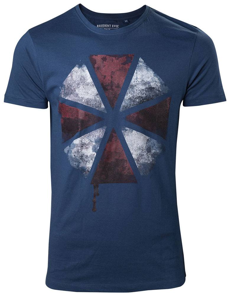 Resident Evil T-Shirt Blood Dripping Umbrella Logo Size M