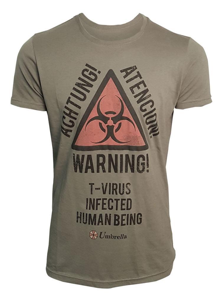 Resident Evil T-Shirt Warning Size M